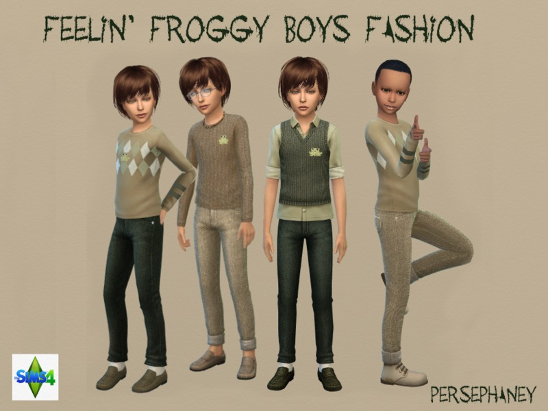 Feelin' Froggy Boy's Fashion Set BY Persephaney