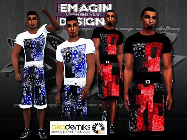 Akademiks Bandana Patchwork 2 Sets /Men by emagin360