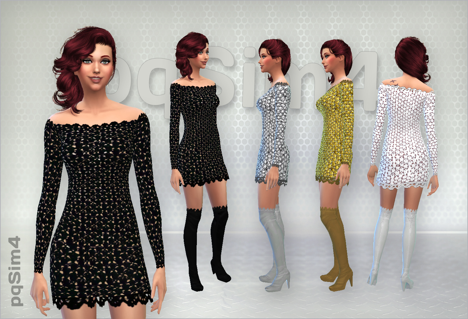 Set of crochet dress By PQSims4