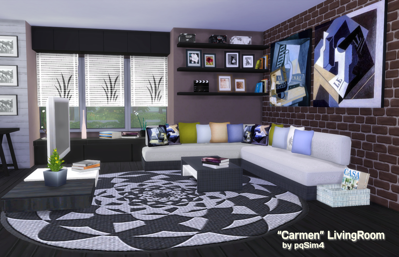 "Carmen"" Living Room By PQSIMS4"