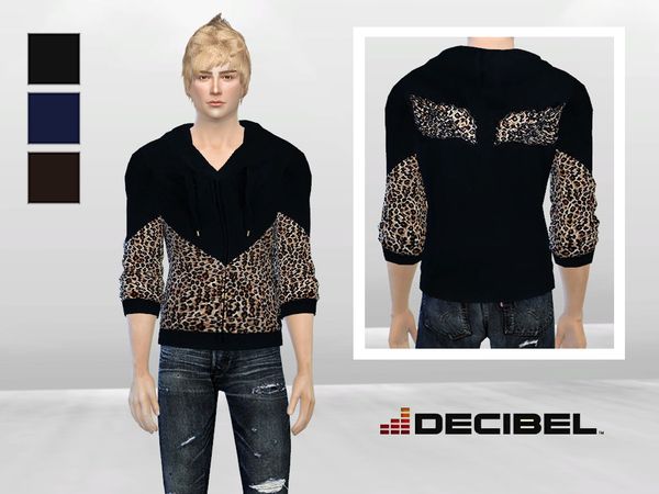 Cheetah Printed Fleece Jacket by McLayneSims
