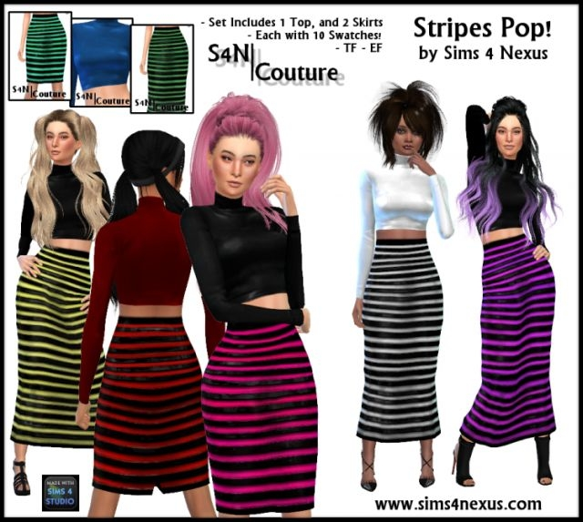 Stripes Pop by Sims4Nexus
