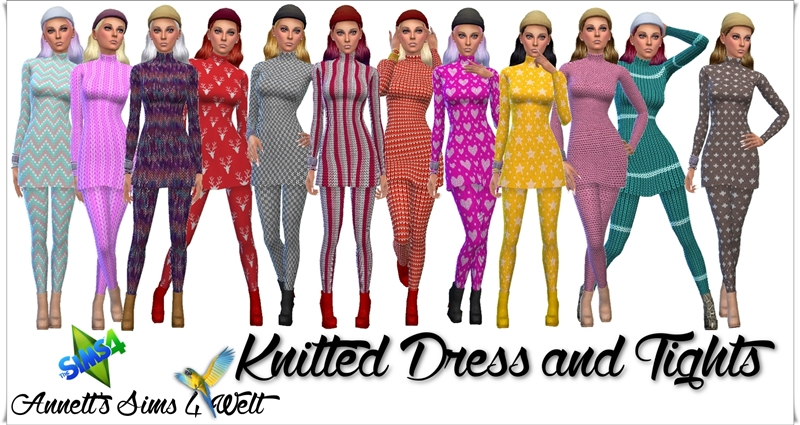 Knitted Dresses and Tights by Annett