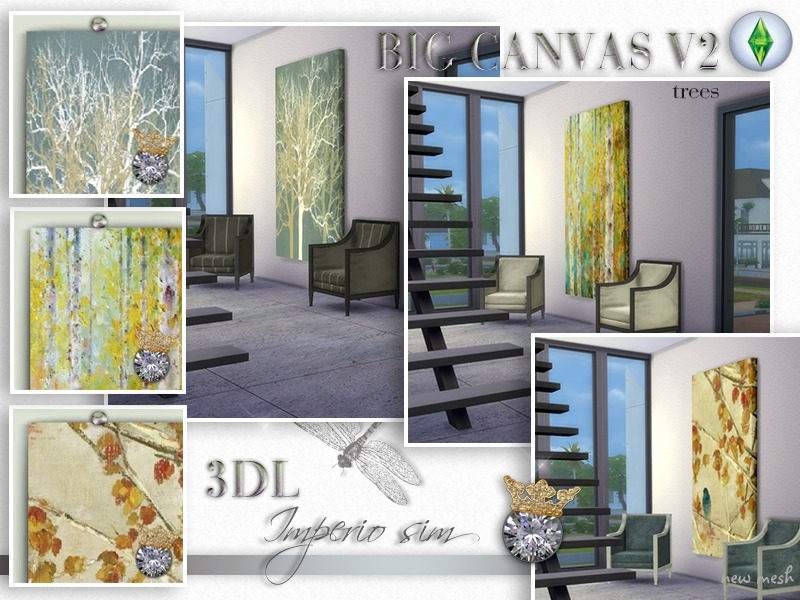 3DL Imperio Sim Big Canvas Trees v2 s4 BY eddielle