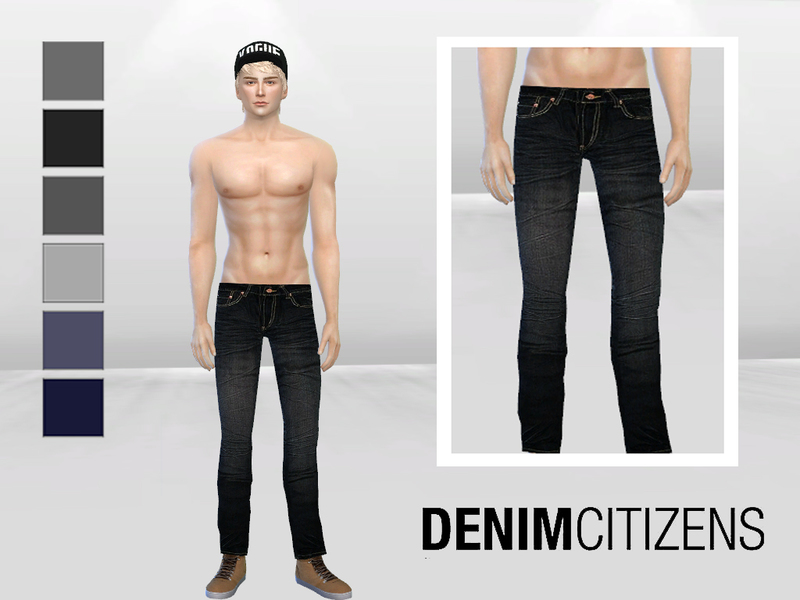 Low-Waist Scar Denim Jeans BY McLayneSims