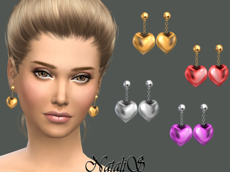 Heart drop earrings By NataliS