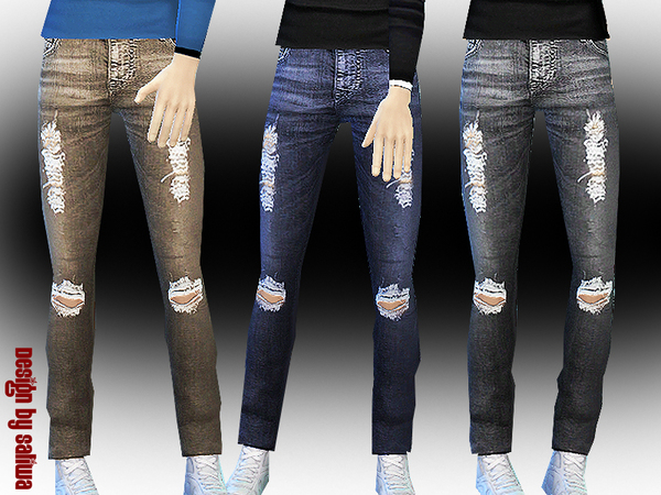 Men's Ripped Jeans by Saliwa