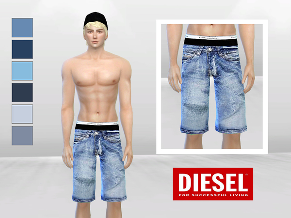 Down Under Low-Waist Denim Shorts by McLayneSims