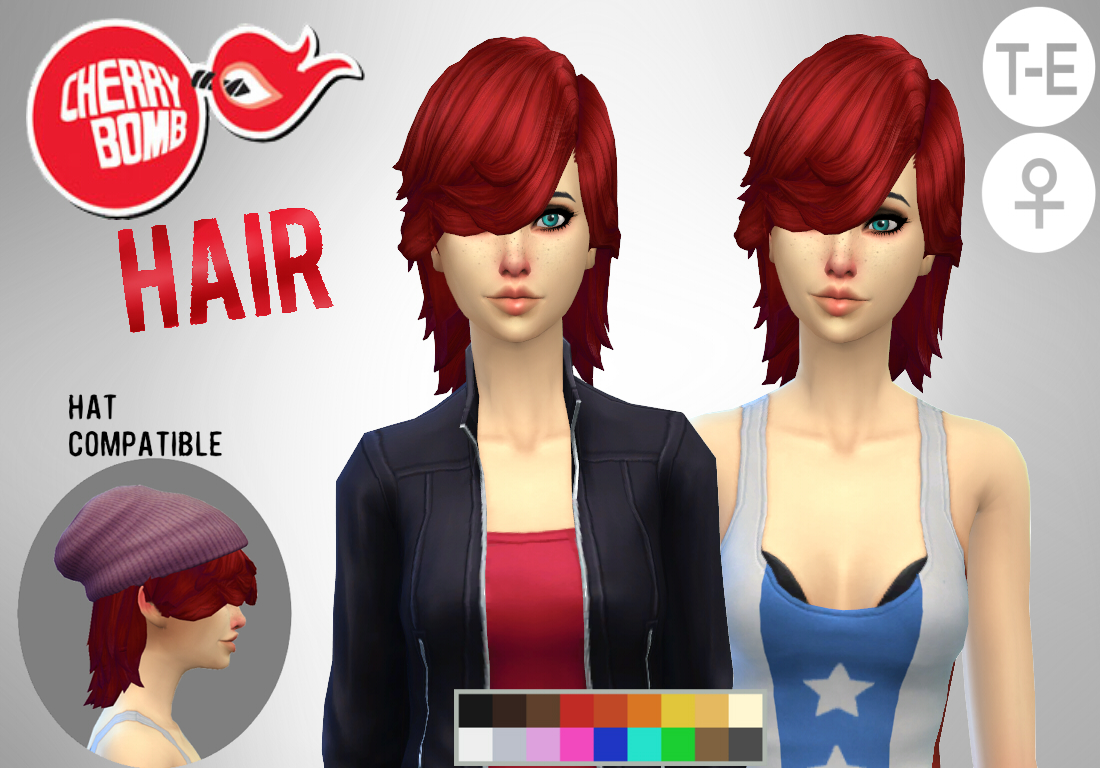 Cherry Bomb Hair for Females by Simduction