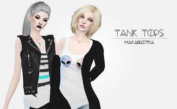 Tank Tops for Females by Makabrotka