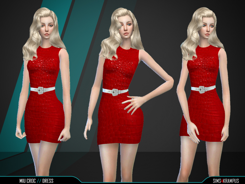 Miu Croc Dress BY SIms4Krampus