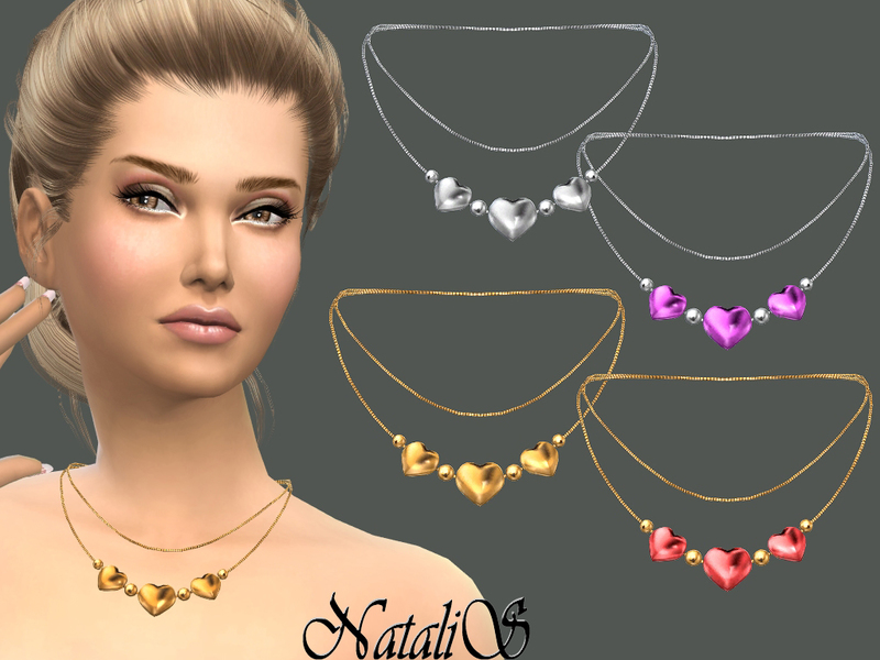 Three hearts necklace  BY NataliS