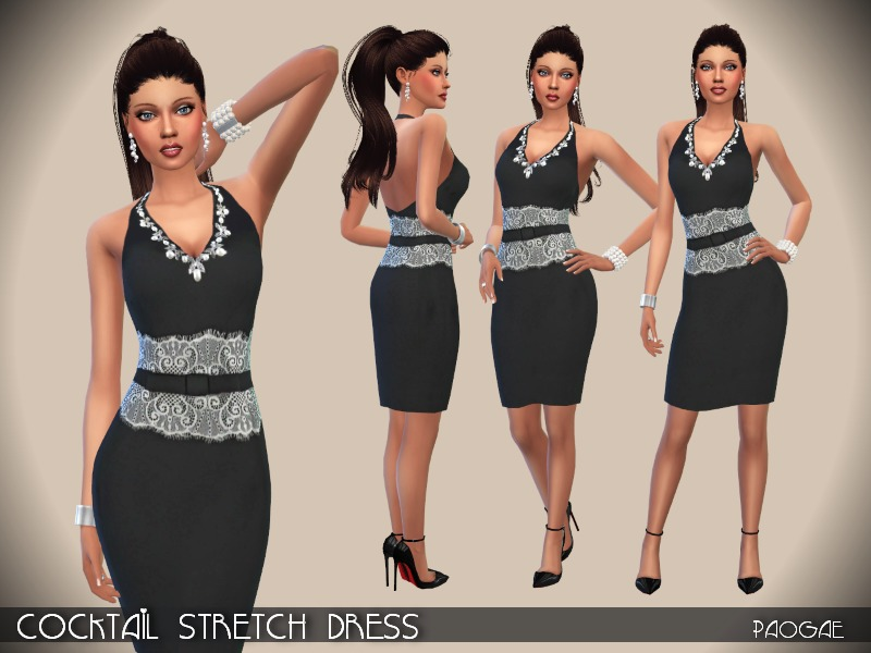 Cocktail Stretch Dress BY Paogae