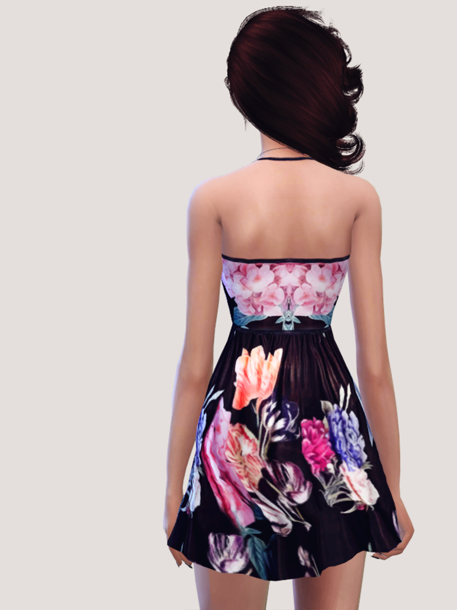 Floral Skater Dress by Salem2342
