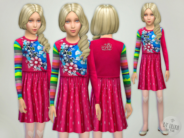 Multicolored Designer Dress 2 by lillka
