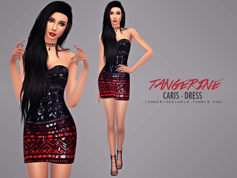 Caris - Dress  BY tangerinesimblr