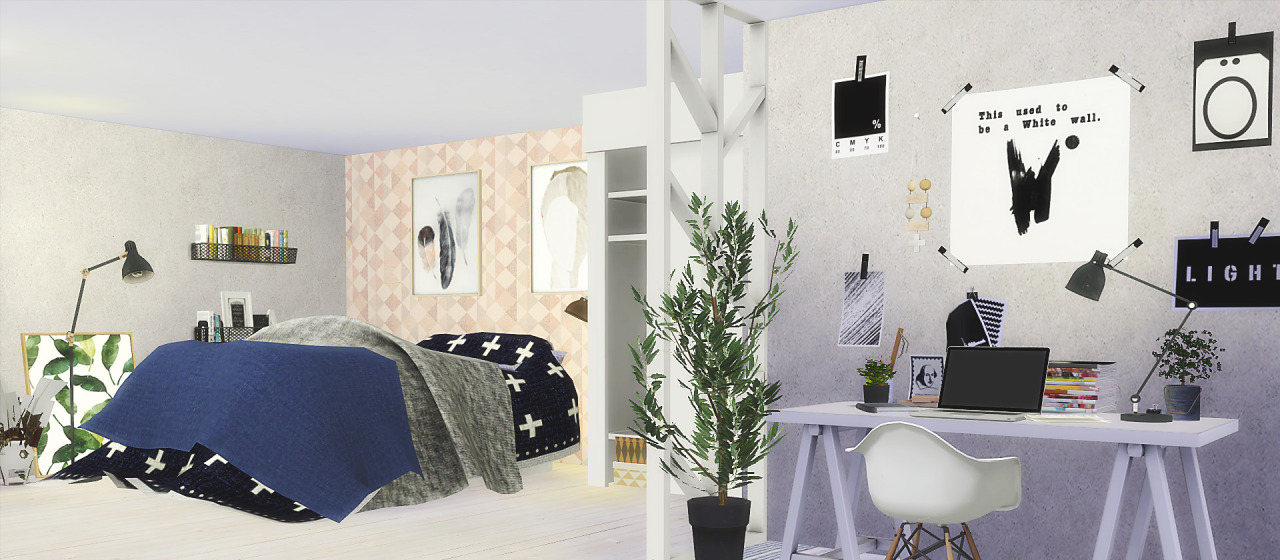 TS2 LeeHee Curio Bedroom Set Conversion by Rachel