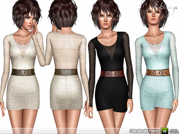 Belted Crochet Dress by ekinege