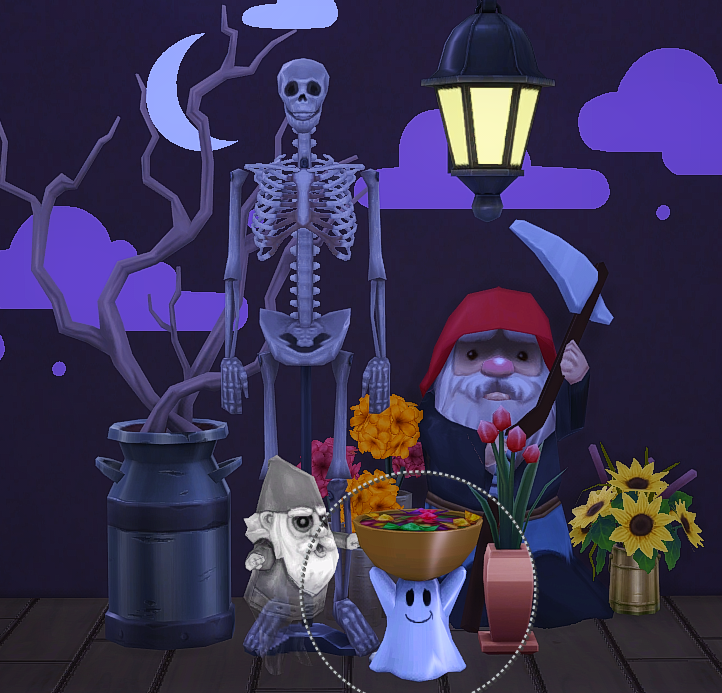 TS3 Halloween Decor Conversions by GrilledCheeseAspiration