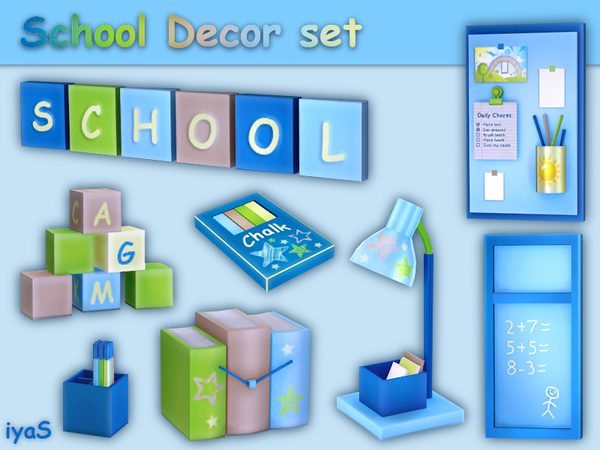 School Decor set by soloriya