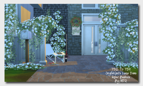 Joyfulgirl Luna Rose Bushes + Kativip Can & Recolors by MsTeaQueen