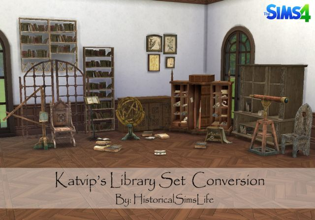 Katvip's Library Set Conversion by HistoricalSimsLife
