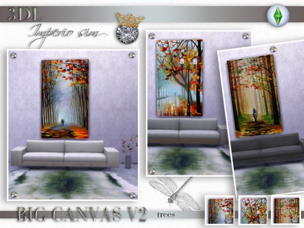 3DL Imperio Sim Big Canvas Trees V3 s4 by eddielle
