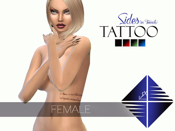 French TATTOO (Sides) [Female] by LSX