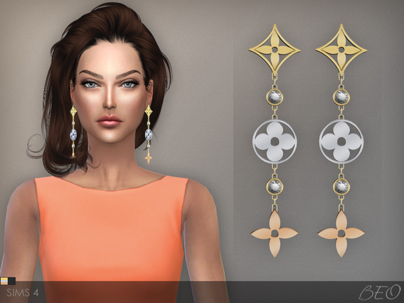 BEO Creations  Accessories, Jewelry : LV MONOGRAM IDYLLE EARRINGS