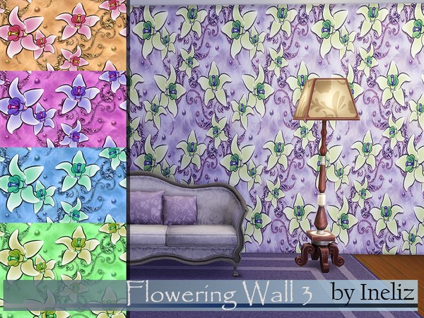 Flowering Wall 3 by Ineliz