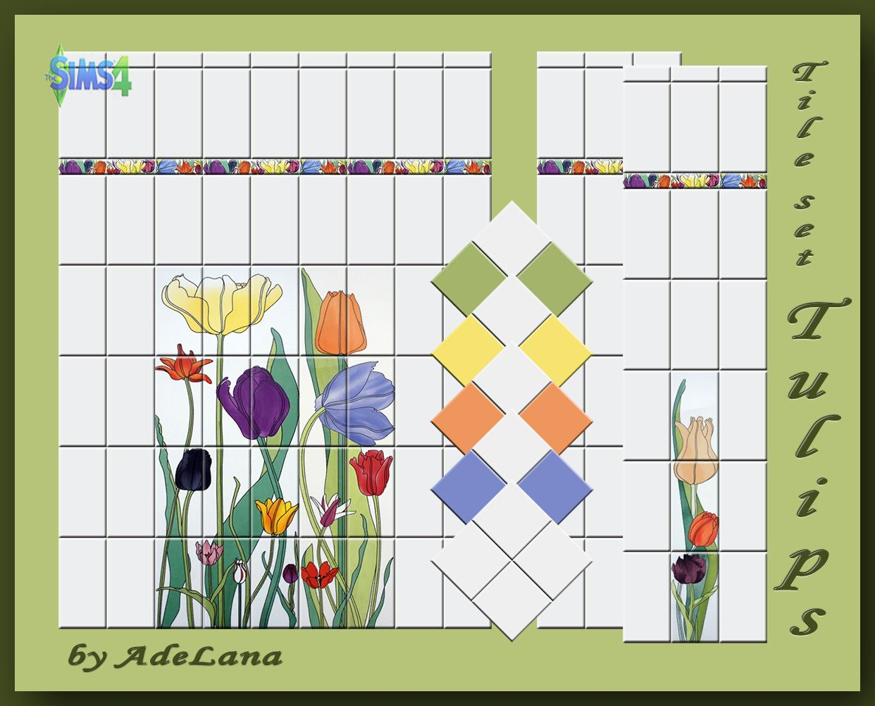 "Tile set ""Tulips"" by AdeLanaSP"