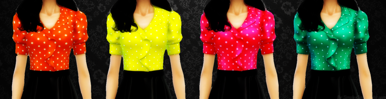 EA Blouse Recolors by Simpleasims