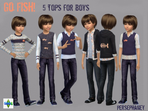 Go Fish! Boys Shirt Set by Persephaney