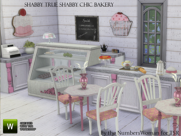Shabby Chic True Shabby Bakery by TheNumbersWoman