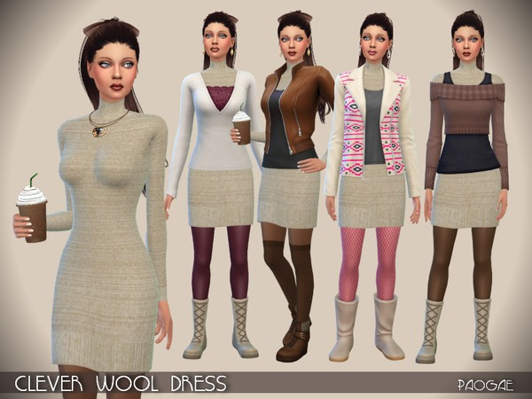 Clever Wool Dress by Paogae