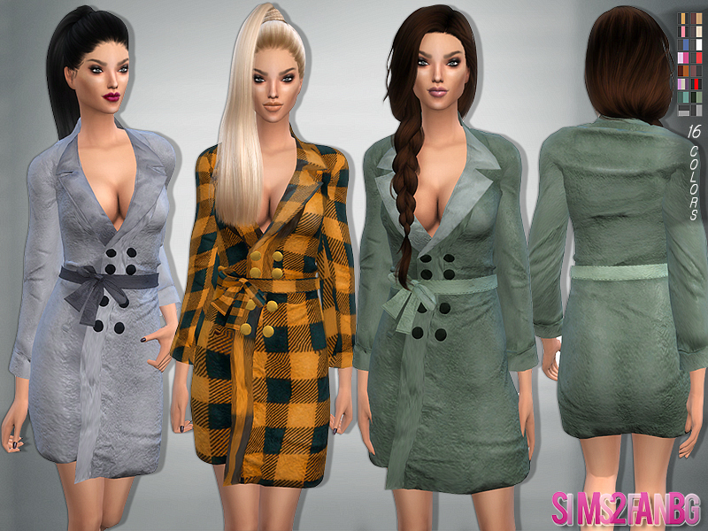 78 - Bow belt coat  BY sims2fanbg