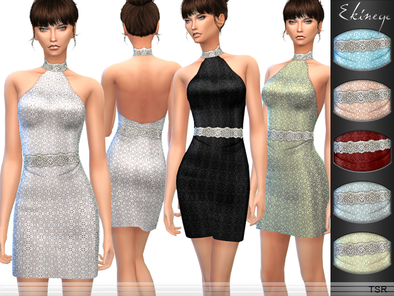 Embellished Halter Dress BY ekinege