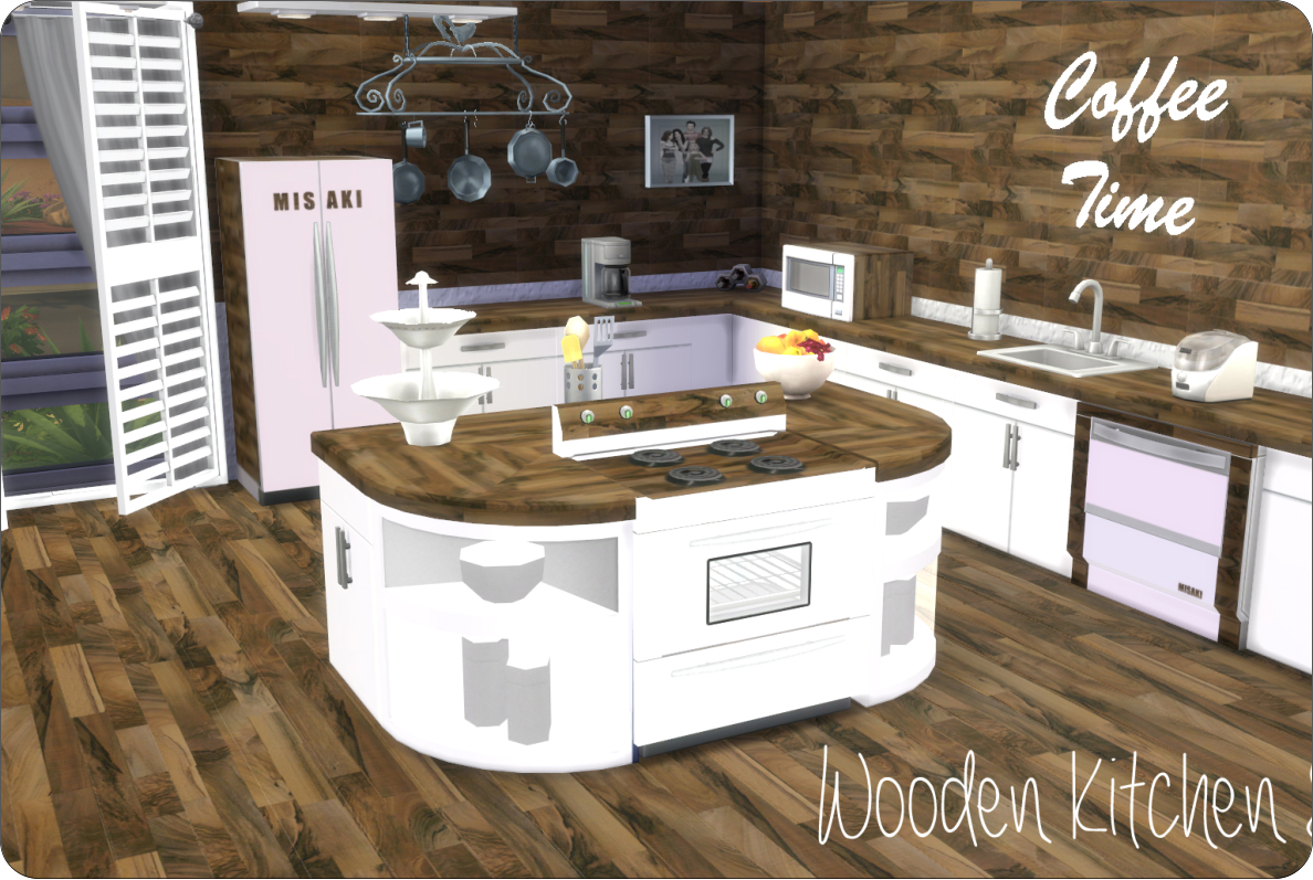 WOODEN KITCHEN By XMISAKIX SIMS