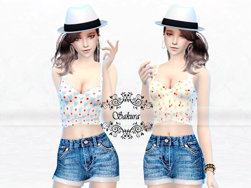 Pattern Crop tops BY SakuraPhan