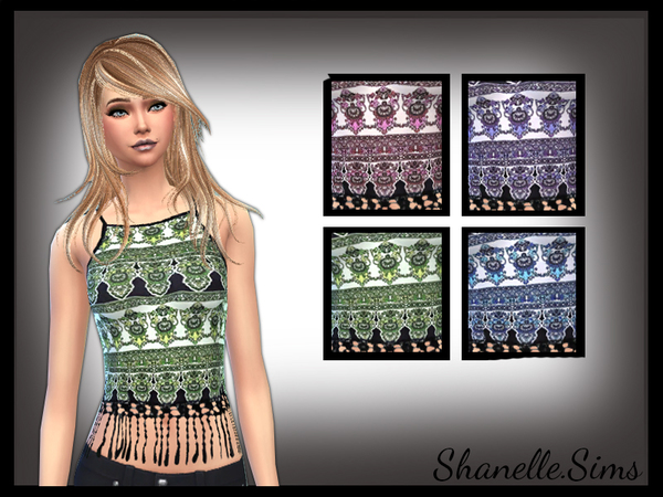Boho Print trimmed top by shanelle.sims