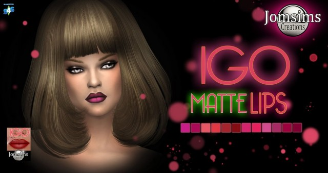 igo matte lips by JomSims