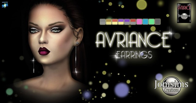 AVRIANCE earrings by JomSims