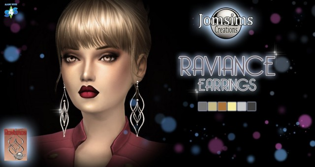 raviance earrings by JomSims