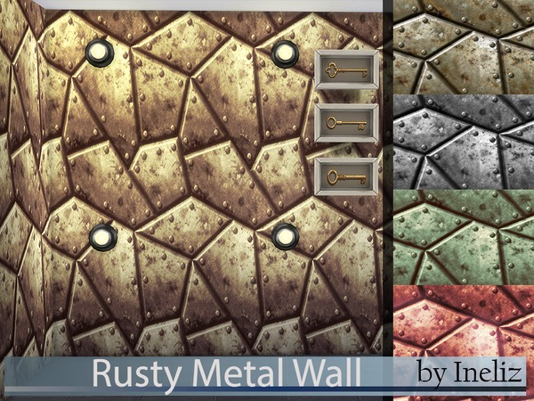 Rusty Metal Wall by Ineliz