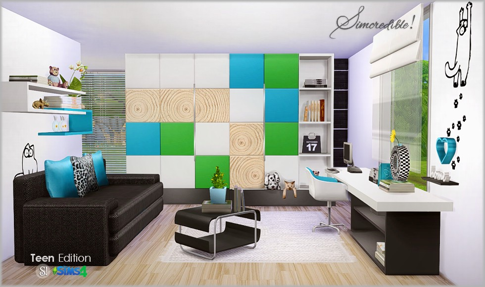 Teen Bedroom Set by Simcredible Designs