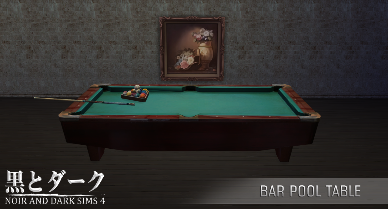 Bar Pool Table by Noiranddarksims