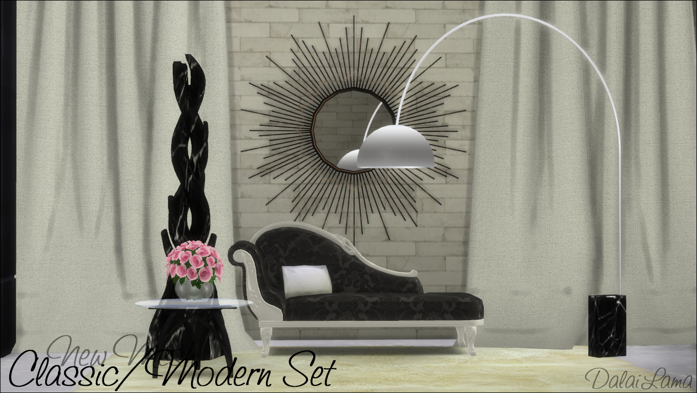Classic Modern Sofa, Coffee Table and Lamp by DalaiLama