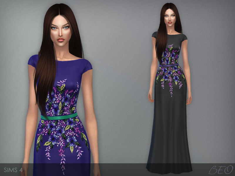 Multi Colored Embroidered Dress by BEO
