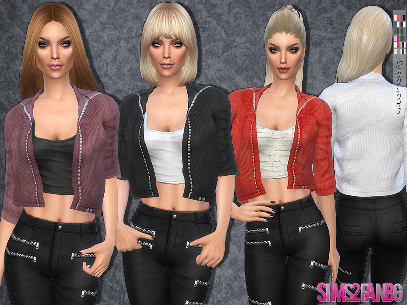 79 - Short jacket with top   BY sims2fanbg