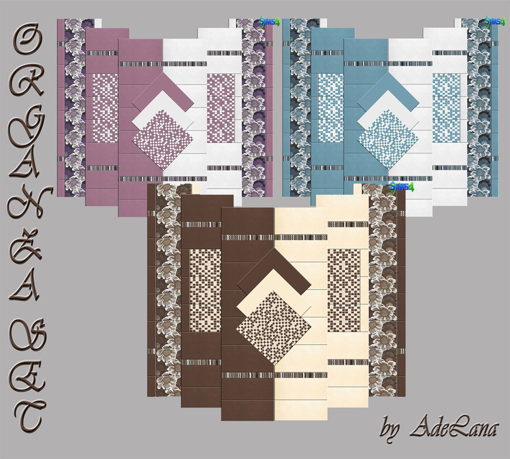 "Set of panels ""Organza"" by AdeLanaSP"
